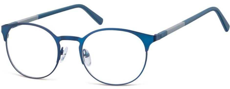Okrągłe stalowe niebieskie oprawki Stylion