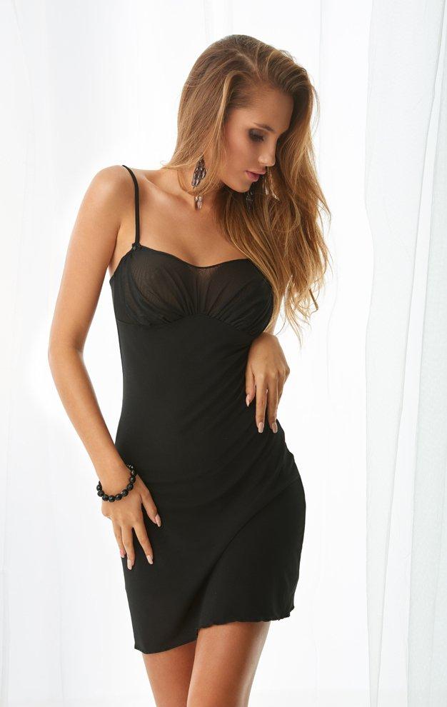 Halka nocna - piżama - Aleksandria - czarny