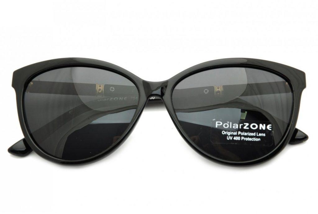 Okulary Kocie Oko polaryzacyjne damskie czarne POL-754