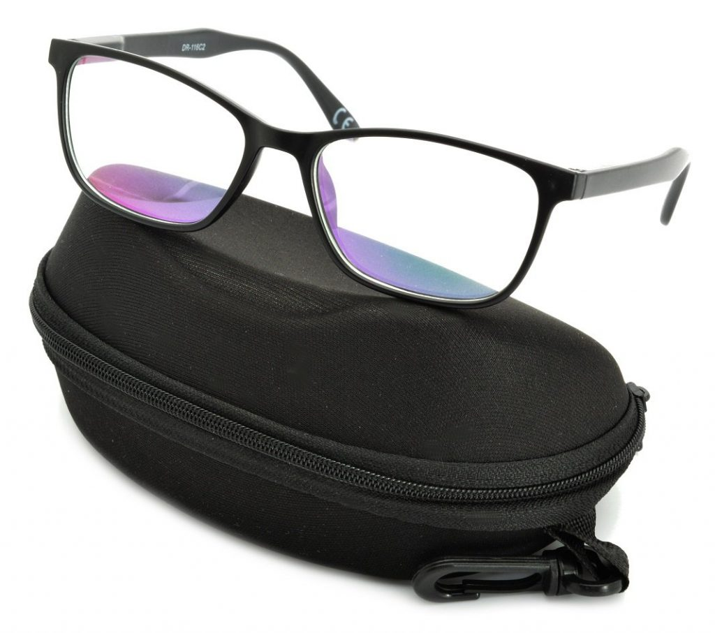 Okulary Antyrefleksyjne zerówki Nerdy prostokątne DR-116-C2