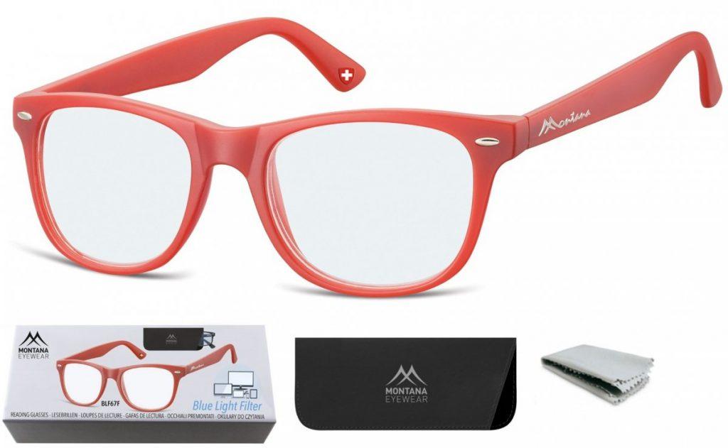 Okulary do Komputera i Czytania Plusy z Antyrefleksem Montana BLFBOX67F