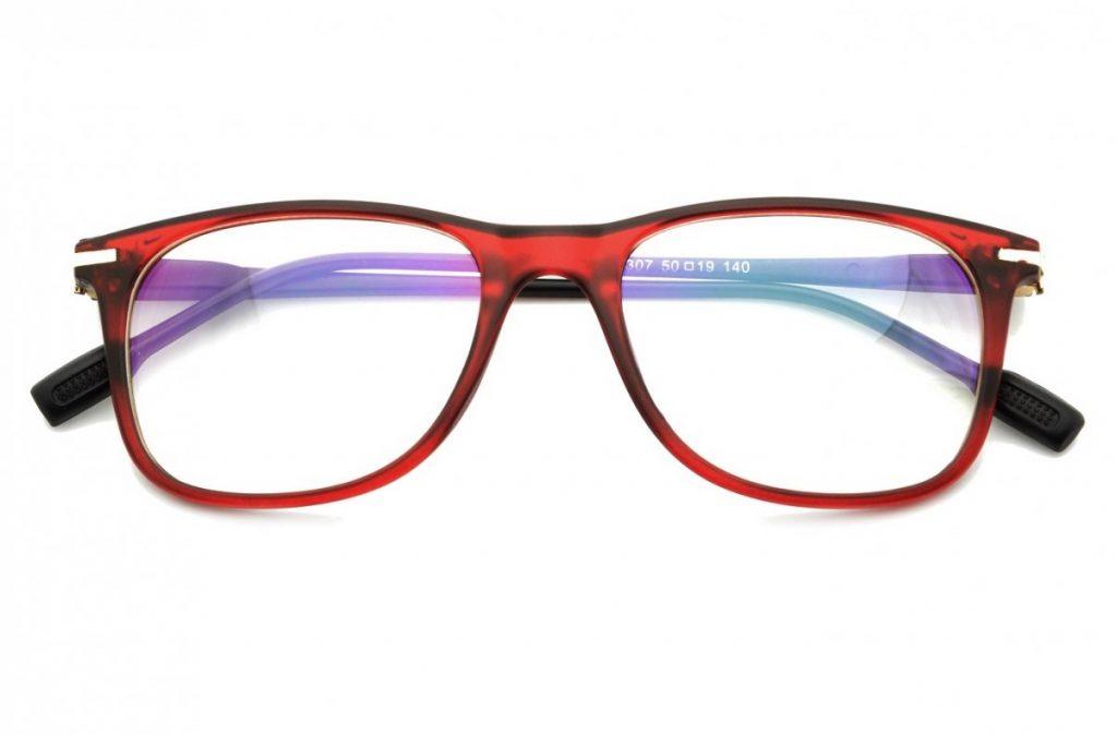 Okulary Antyrefleksyjne zerówki Nerdy prostokątne STN-10B