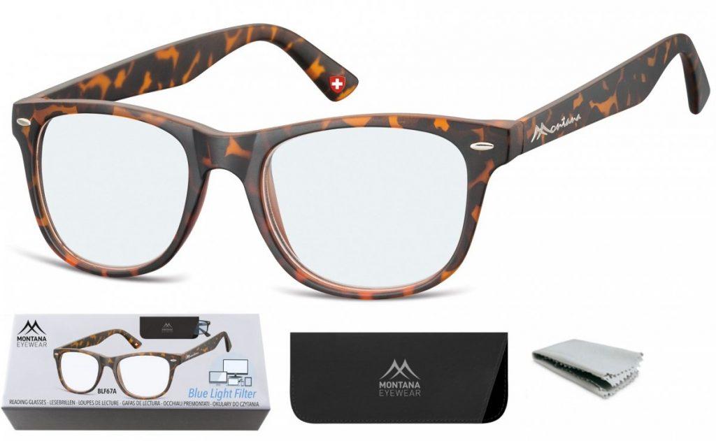 Okulary do Komputera i Czytania Plusy z Antyrefleksem Montana BLFBOX67A