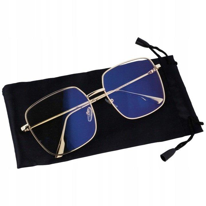 Damskie okulary zerówki oversize z ANTYREFLEKSEM T7586