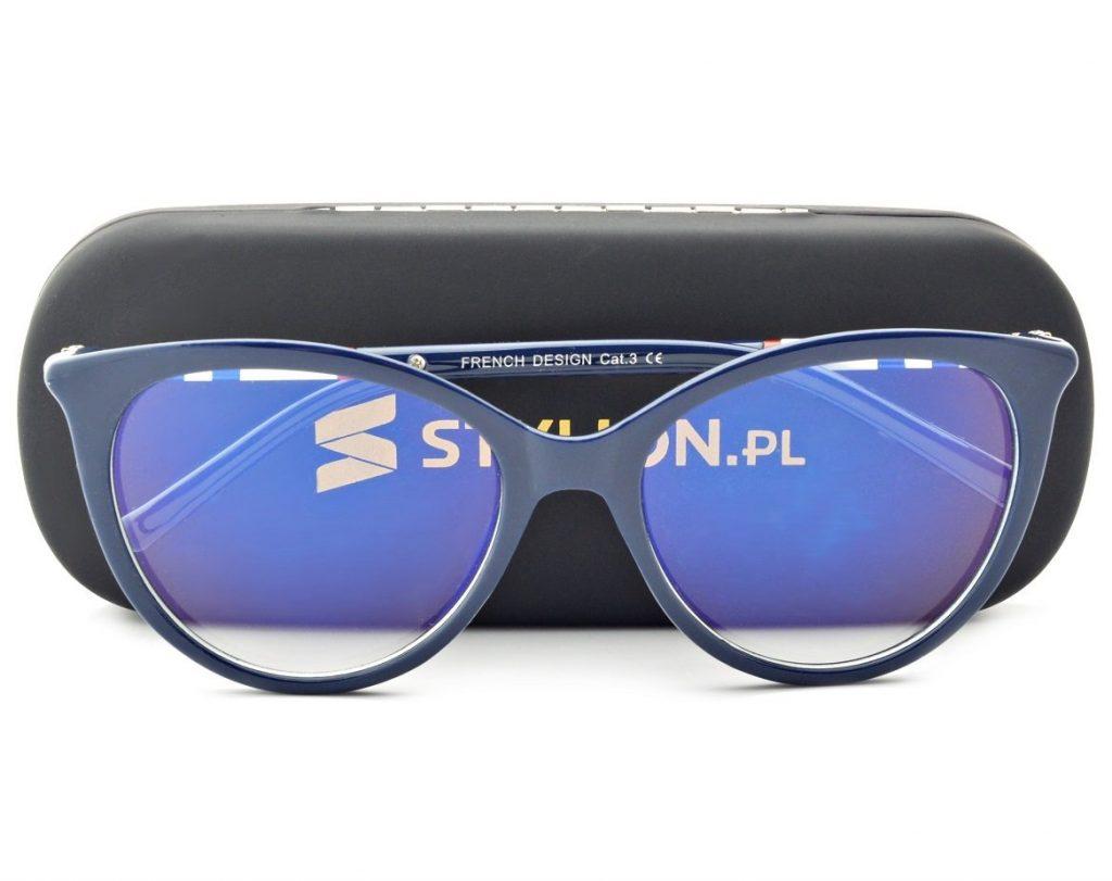 Okulary Kocie z filtrem światła niebieskiego do komputera zerówki CO-292K