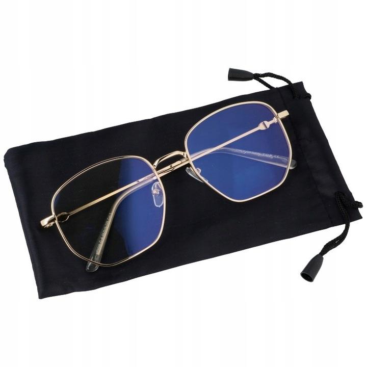 Damskie okulary zerówki oversize z ANTYREFLEKSEM T7585