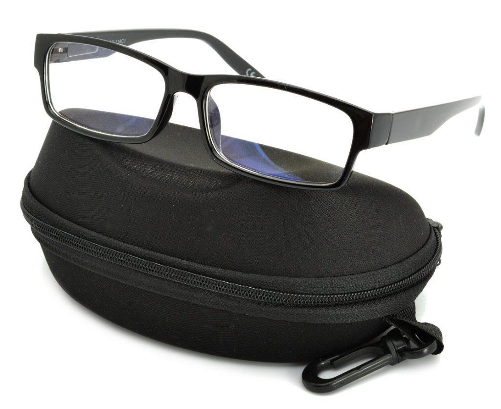 Okulary Antyrefleksyjne zerówki Nerdy prostokątne DR-114-C1